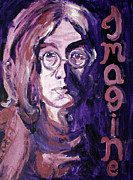 Fab Four Framed Prints - John Lennon Framed Print by Hannah Curran