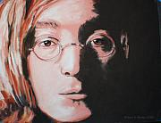 Celebrity Pastels Framed Prints - John Lennon  Imagine Framed Print by Sharon Morley  APS