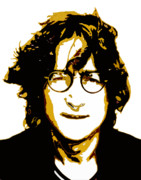Singer Songwriter Digital Art - John Lennon in Shades of Brown by Jera Sky