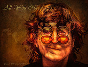 Beatles Photos - John Lennon by Javier Alvarez