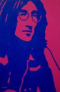The Blue Face Paintings - John Lennon by John  Nolan