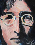 Ringo Framed Prints - John Lennon  Framed Print by Jon Baldwin  Art