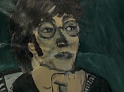 John Lennon Painting Originals - John Lennon by Julie Butterworth