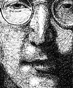 John Lennon  Drawings - John Lennon by Larry Joe