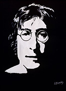 Celbrity Art Framed Prints - John Lennon Framed Print by Leeann Stumpf