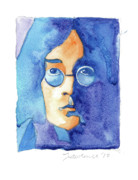 Singer  Paintings - John Lennon by Mike Lawrence