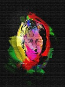 John Digital Art - John Lennon by Mo T