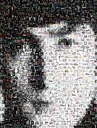 John Lennon  Mixed Media - John Lennon Mosaic by Paul Van Scott