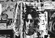 John Lennon  Mixed Media - John  Lennon NYC Print by AdSpice Studios