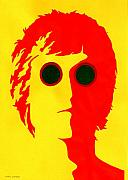 Lennon Mixed Media Originals - John Lennon red by Mark Cawood
