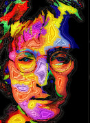 British Portraits Digital Art Framed Prints - John Lennon Framed Print by Stephen Anderson