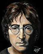 John Lennon  Art - John Lennon by Tom Carlton
