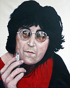 Beatles Paintings - John Lennon by Tom Roderick