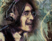 Featured Digital Art - John Lennon Tribute- Dont Let Me Down by David Finley