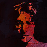 Liverpool Painting Prints - John Lennon Watercolor Print by Stefan Kuhn