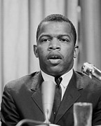 Race Discrimination Framed Prints - John Lewis, Founder Of The Student Framed Print by Everett
