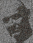 John Locke Dharma Button Mosaic Print by Paul Van Scott