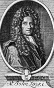 1704 Framed Prints - John Locke, English Philosopher, Father Framed Print by Science Source
