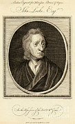1704 Framed Prints - John Locke, English Philosopher Framed Print by Photo Researchers