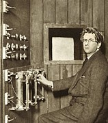 Trans-atlantic Posters - John Logie Baird, Scottish Engineer Poster by Sheila Terry