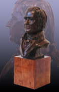 Benjamin Franklin Sculptures - John Marshall Portrait Bust by John Gibbs