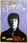Beatles Pastels Prints - John Print by Mike  Mitch