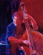 Performer Prints - John Patitucci From the Bottom Print by David Lloyd Glover