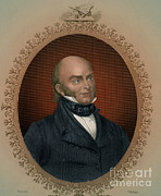 Adams Framed Prints - John Quincy Adams, 6th American Framed Print by Photo Researchers