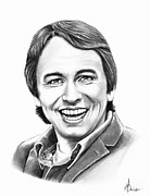 People Drawings - John Ritter by Murphy Elliott