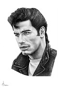 People Drawings Originals - John Travolta by Murphy Elliott