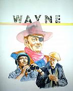 John Wayne Paintings - John Wayne by Bryan Bustard