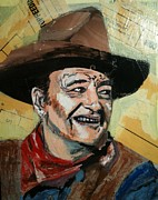 John Wayne Mixed Media - John Wayne by Devon Reiffer