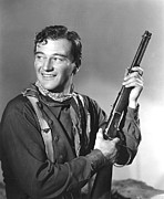 Neckerchief Prints - John Wayne In Costume For Stagecoach Print by Everett