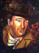 John Wayne Paintings - John Wayne by Jennifer Morrison Godshalk