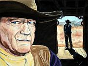 John Wayne Paintings - John Wayne by John Cox
