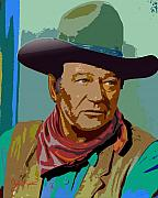 Movie Stars Framed Prints - John Wayne Framed Print by John Keaton