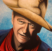 John Wayne Paintings - John Wayne by Justin Coffman