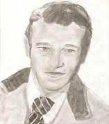 John Wayne Drawings Metal Prints - John Wayne Metal Print by Art of the Maverick