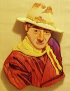 Celebrities Sculpture Originals - John Wayne by Russell Ellingsworth