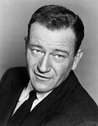 Portraits Photos - John Wayne, Warner Brothers, 1956 by Everett