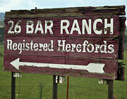 John Wayne's Ranch Print by Juls Adams