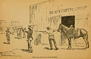 Lawmen Prints - John Wesley Hardin Killing Dewitt Print by Everett