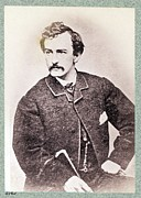 Assassination Prints - John Wilkes Booth 1838-1865 Led Print by Everett
