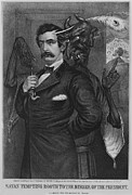 John Wilkes Booth Framed Prints - John Wilkes Booth, Is Goaded Framed Print by Everett