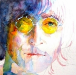 Fab Four  Paintings - John Winston Lennon by Paul Lovering