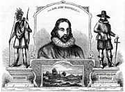 Colonial Man Posters - John Winthrop, English Puritan Lawyer Poster by Photo Researchers