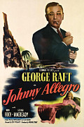 Johnny Framed Prints - Johnny Allegro, George Raft, Top, Nina Framed Print by Everett