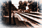 Rail Digital Art - Johnny B Gone by Bill Cannon