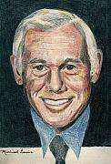 Johnny Carson Prints - Johnny Carson Print by Michael Lewis