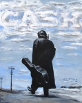 Black  Drawings Framed Prints - Johnny Cash - Going to Jackson Framed Print by Eric Dee